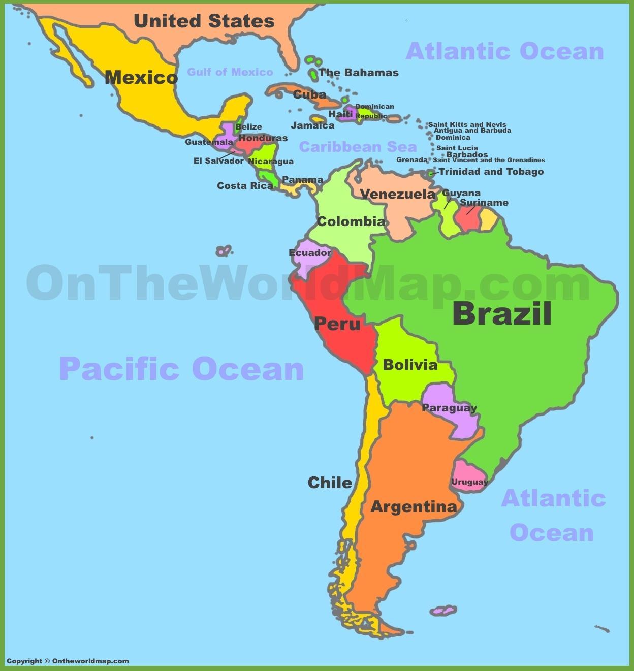 amerika térkép Térkép Mexikó, dél amerika   Térkép Mexikó dél amerika (Közép  amerika térkép