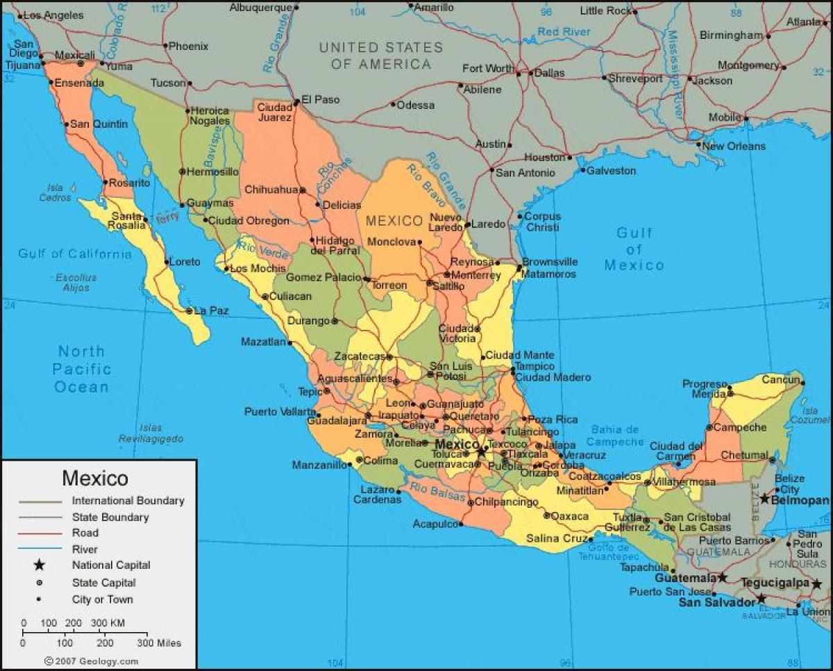 nyugat amerika térkép Térkép nyugat Mexikóban   Nyugat Mexikóban térkép (Közép Amerika  nyugat amerika térkép